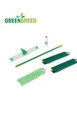 Greenspeed Sprenkler vlakmopsysteem voor het onderhoud en schrobben van keramiek