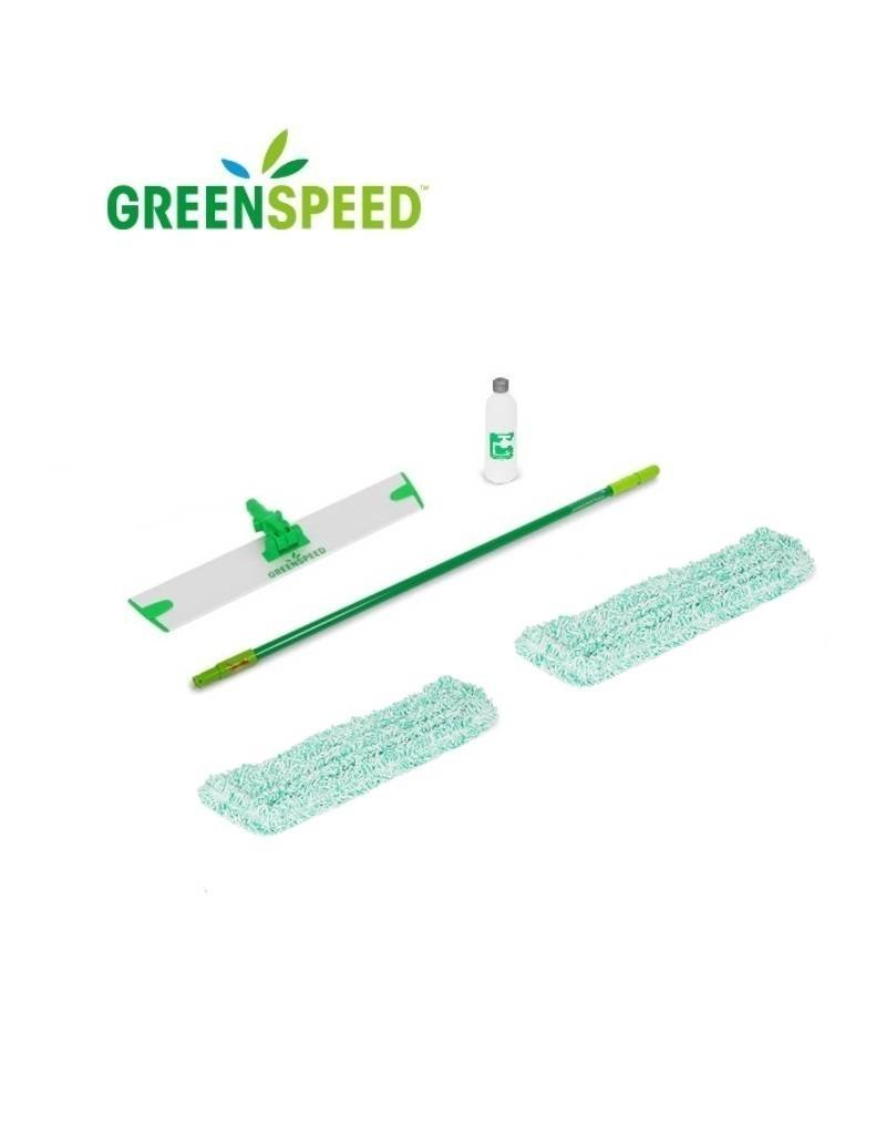 Greenspeed Sprenkler vlakmopset voor natuursteen en betonvloeren.