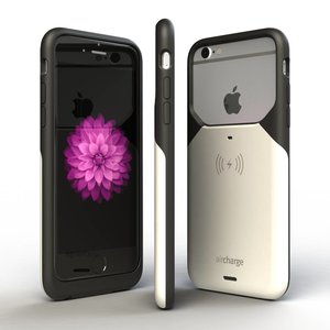 AIRCHARGE iPHONE 6/6S CASE BLACK/WHITE