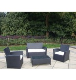 "Loungeset "" Breeze Zwart """
