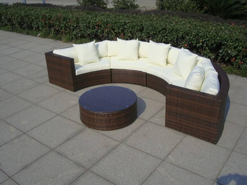 Loungeset Kussens Opbergen : Halfronde loungeset skylounge bruin echte blikvanger