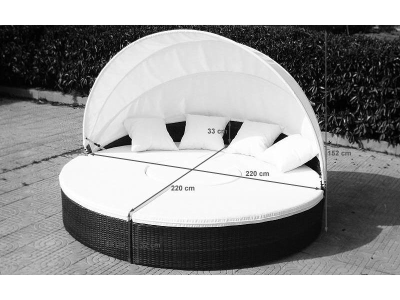 ligbed atlantis zwart vhcollection. Black Bedroom Furniture Sets. Home Design Ideas