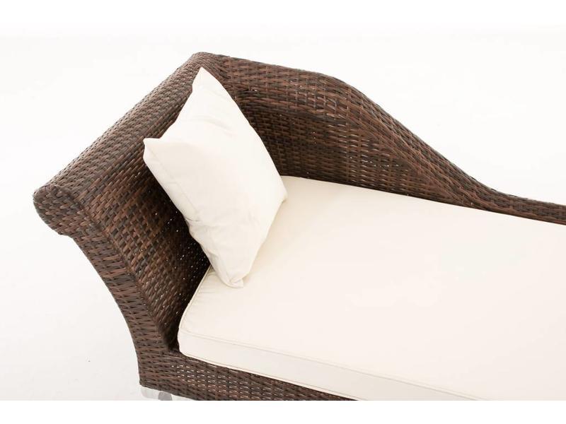 """Chaise longue """" Savannah Flat Bruin """""""
