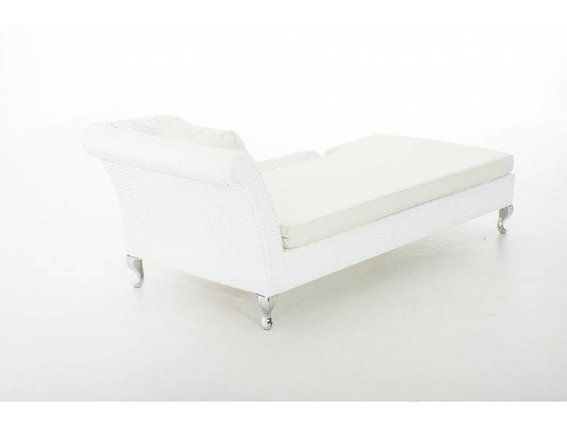 "Chaise longue "" Savannah Flat Wit """