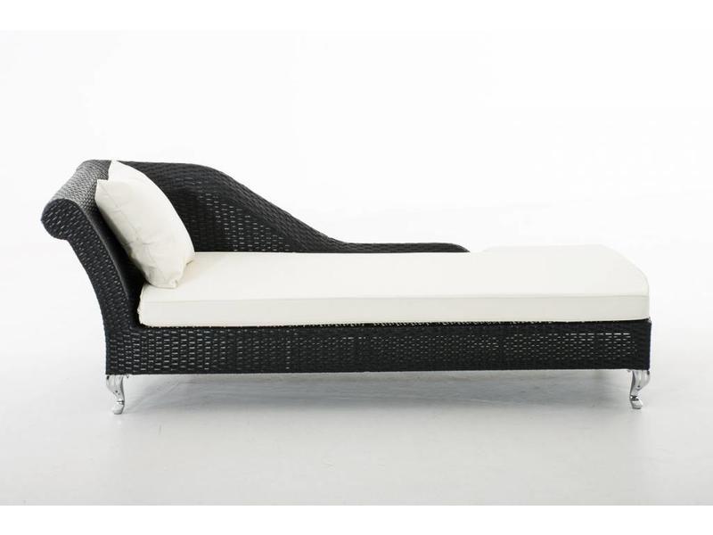 "Chaise longue "" Savannah Flat Zwart """