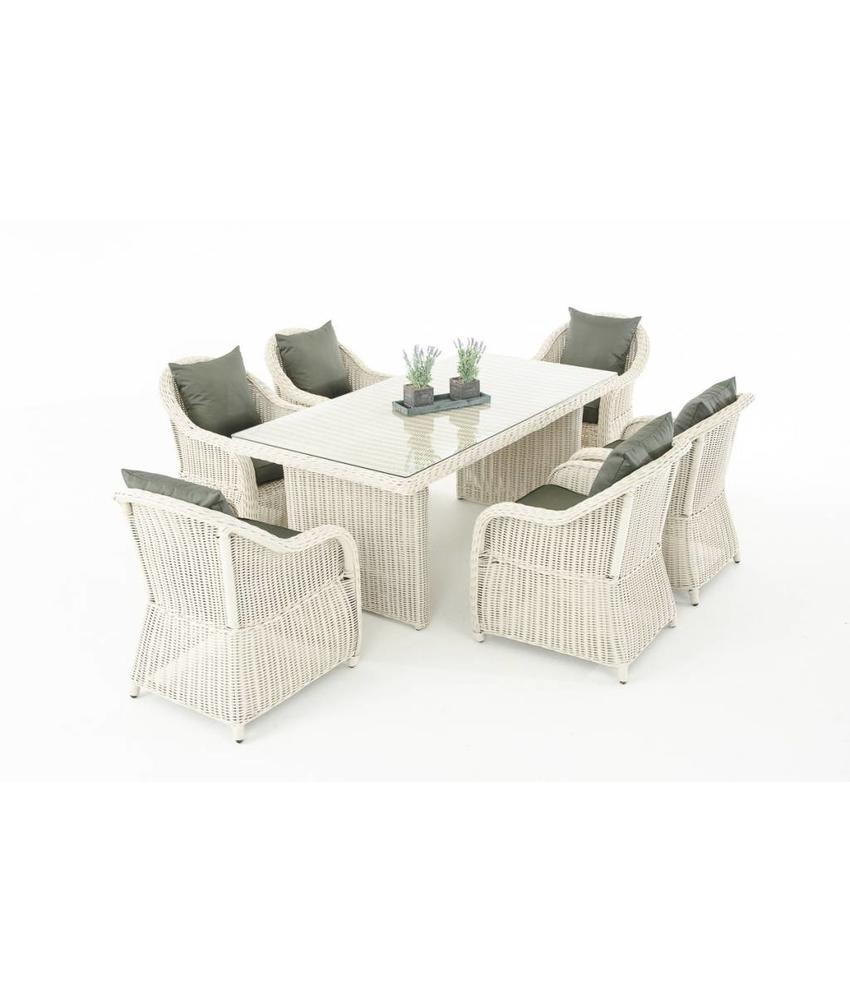 "Tuinset "" Lavello Wit-Antraciet """