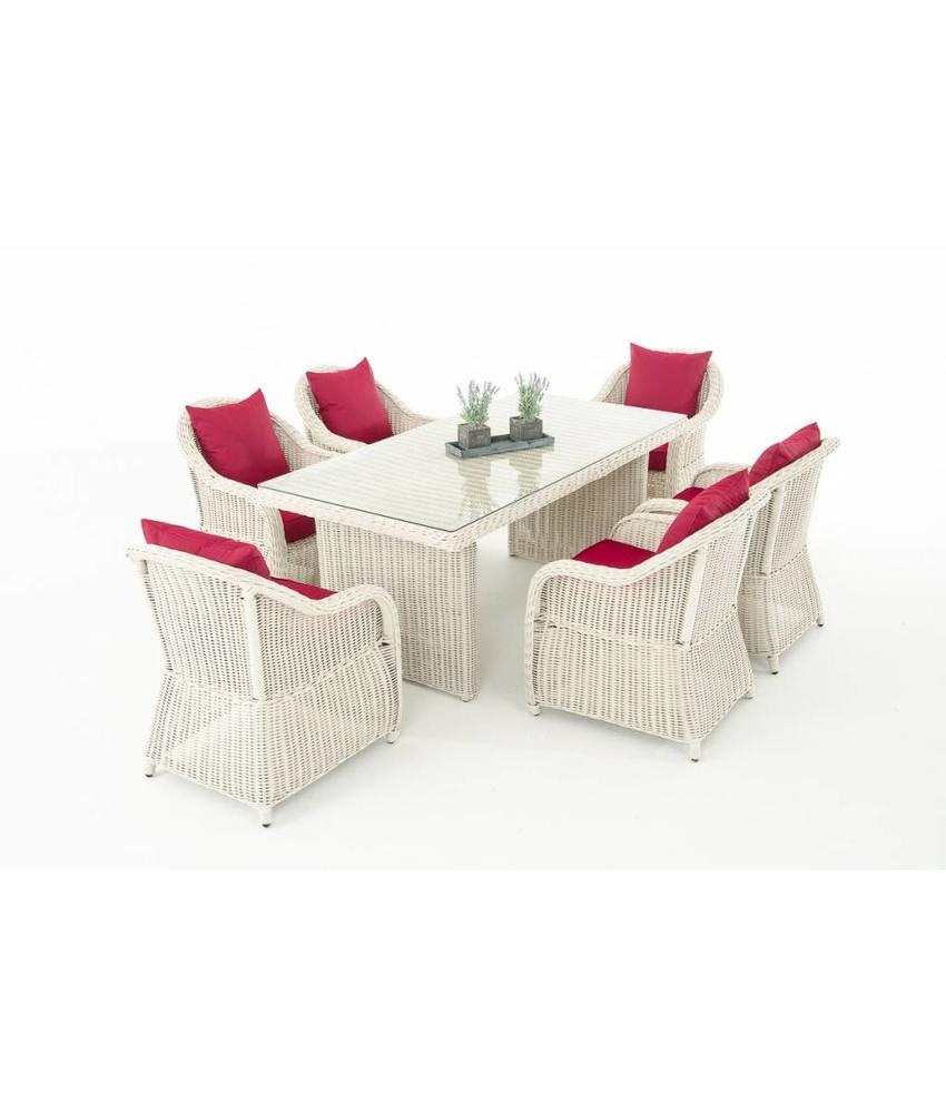 "Tuinset "" Lavello Wit-Rood """