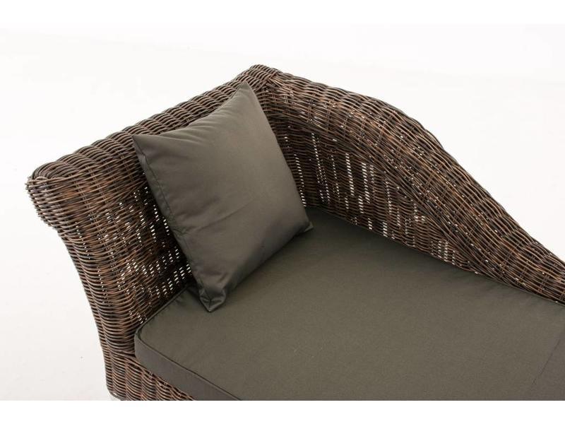 "Chaise longue "" Savannah Bruin-Antraciet """
