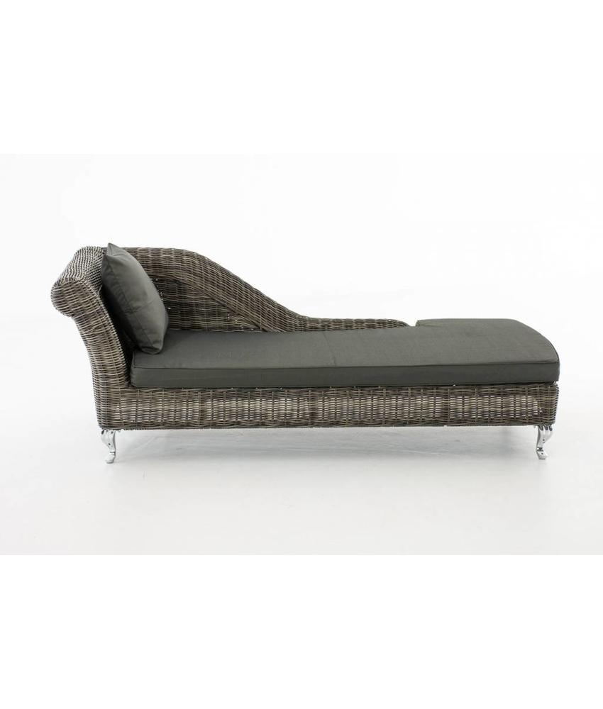 "Chaise longue "" Savannah Grijs-Antraciet """