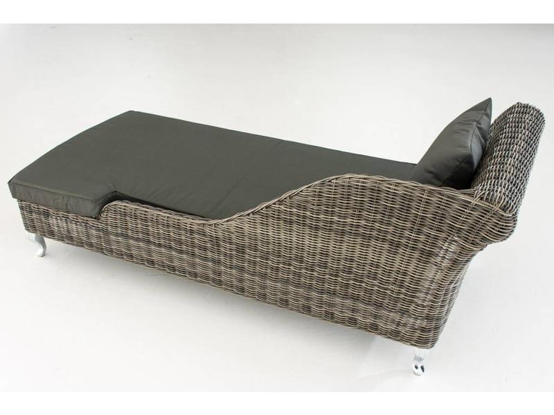 """Chaise longue """" Savannah Grijs-Antraciet """""""