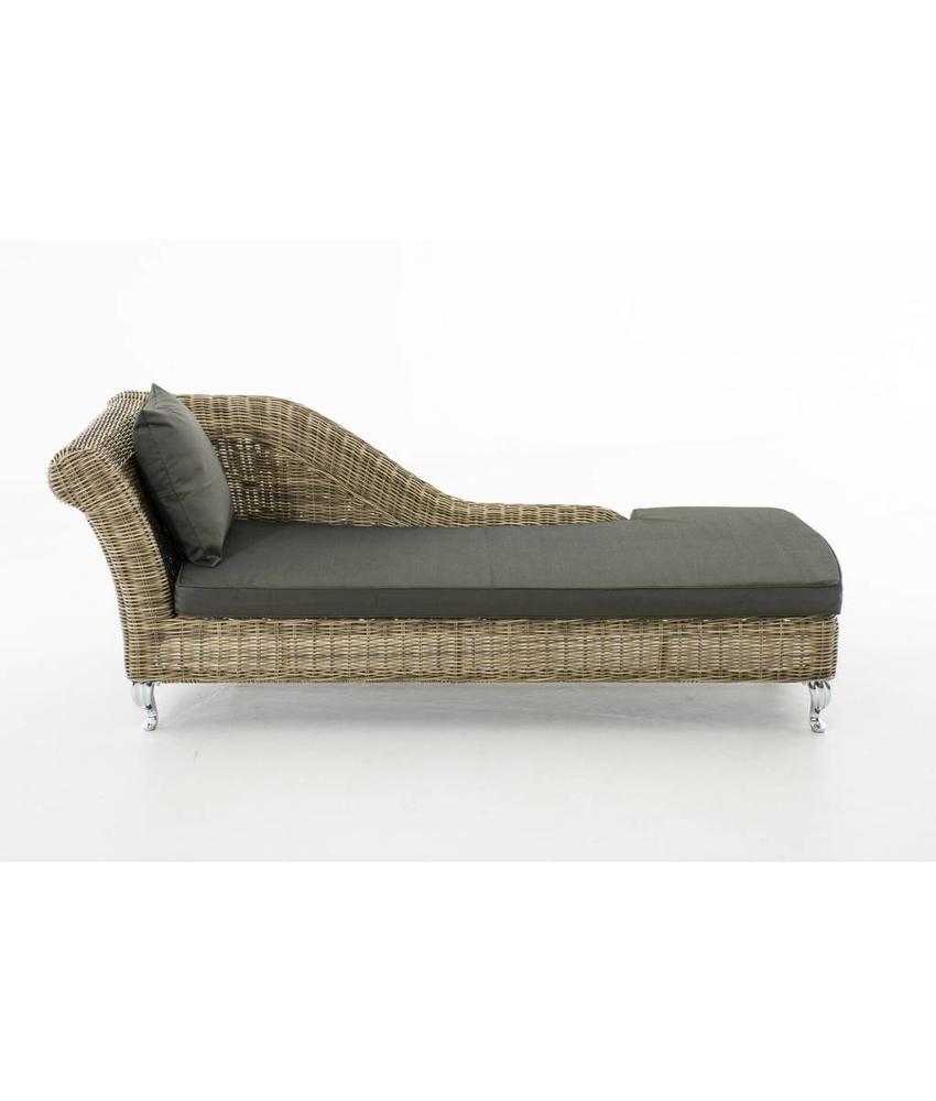 """Chaise longue """" Savannah Naturel-Antraciet """""""
