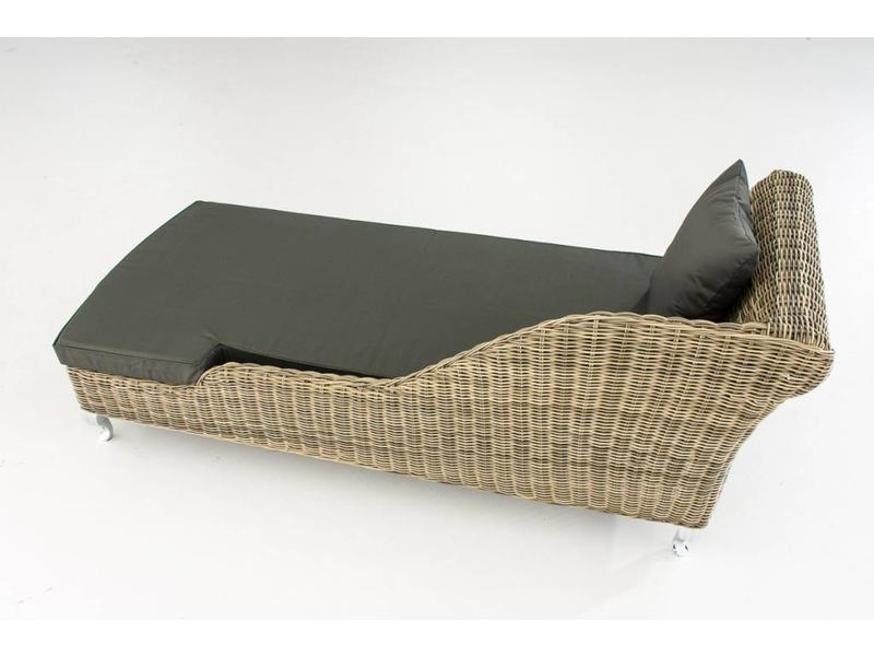 "Chaise longue "" Savannah Naturel-Antraciet """