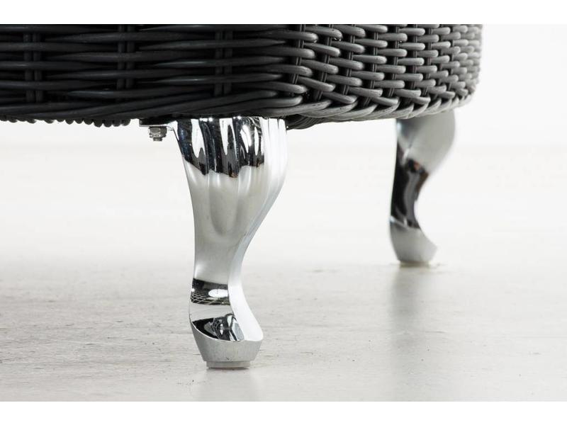 "Chaise longue "" Savannah Zwart-Antraciet """
