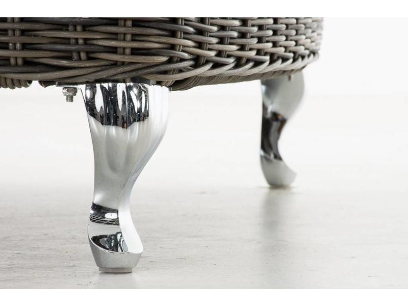 """Chaise longue """" Savannah Grijs-Crème """""""