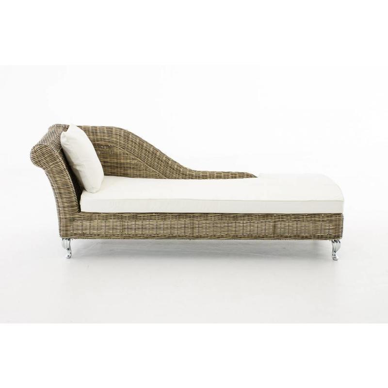 """Chaise longue """" Savannah Naturel-Crème """""""