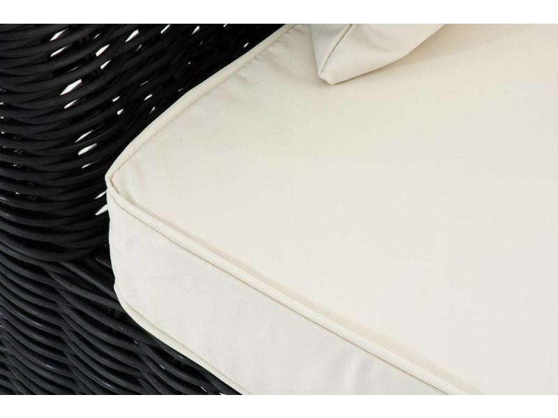"""Chaise longue """" Savannah Zwart-Crème """""""