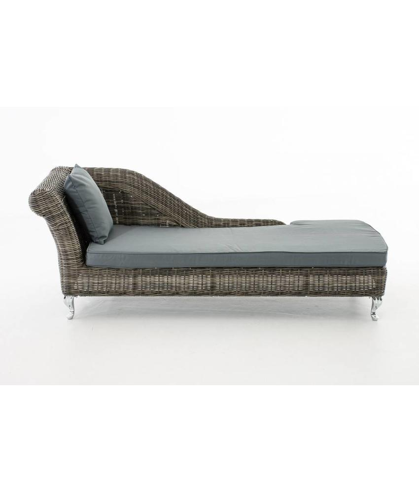 "Chaise longue "" Savannah Grijs-Grijs """