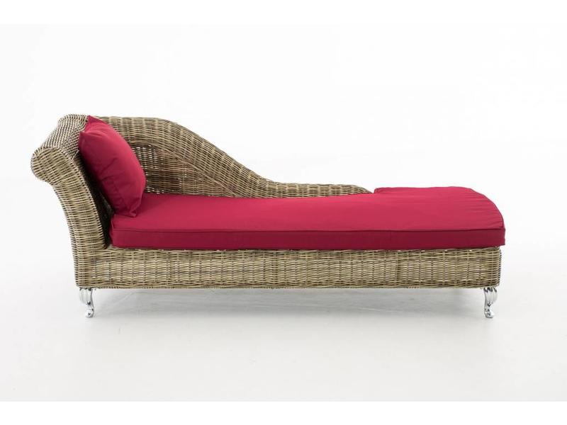"Chaise longue "" Savannah Naturel-Rood """