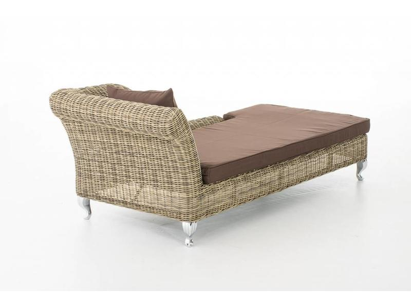 "Chaise longue "" Savannah Naturel-Bruin """