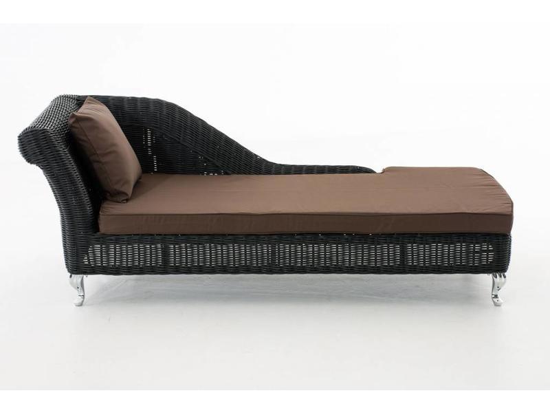 "Chaise longue "" Savannah Zwart-Bruin """