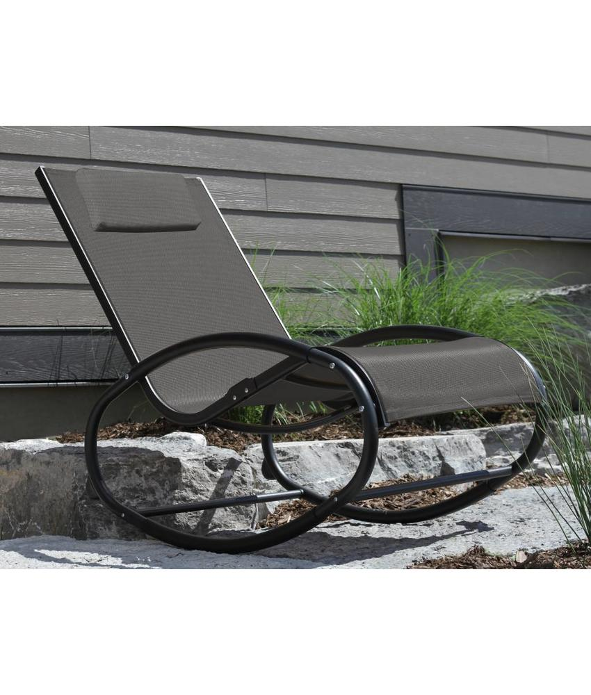 "Tuin schommelstoel "" Wave Rocker Black """