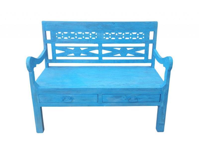 Bankje Blauw - Azul