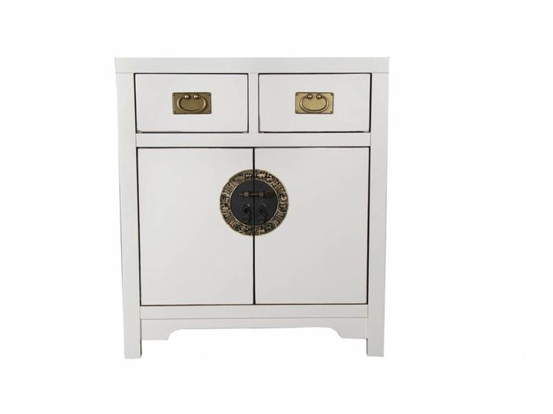 Commode 90 cm Chinese wit - Verre Oosten
