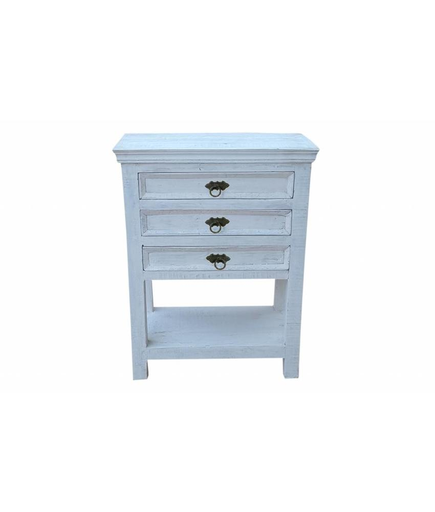 Sidetable Whitewash - Bianco