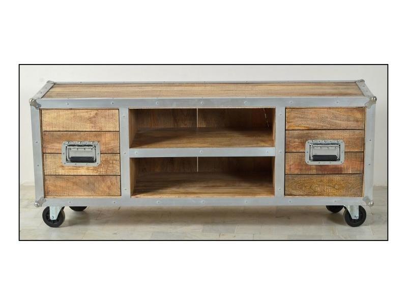 Tv Meubel Wieltjes : Industriële tv meubel op wielen alles voor de woonkamer bva