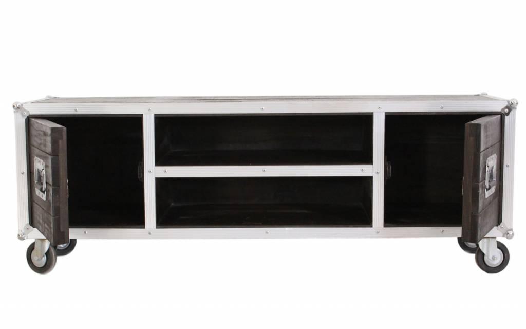 Industriele Tv Meubels : Tv meubel op wielen darkboxes vhcollection