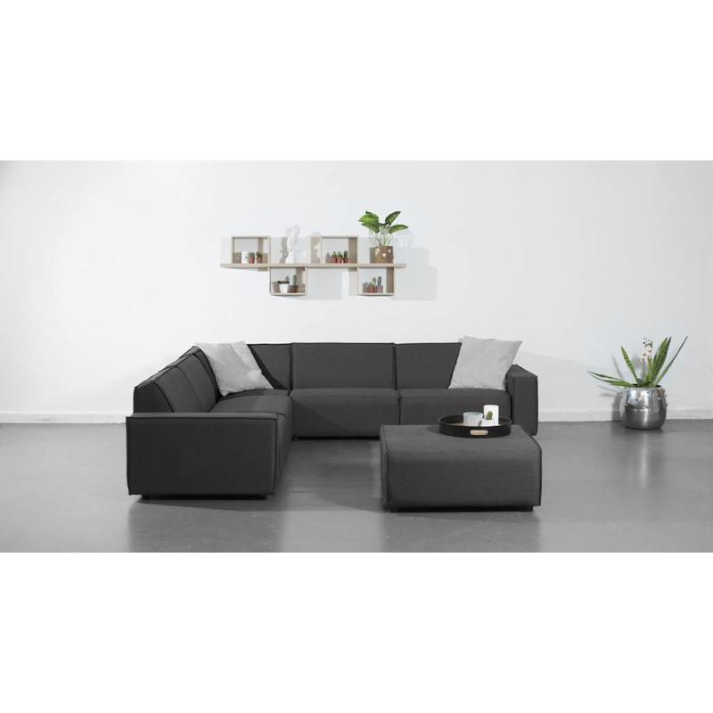 All weather Loungeset + H 291x291 cm - Cacao Grey