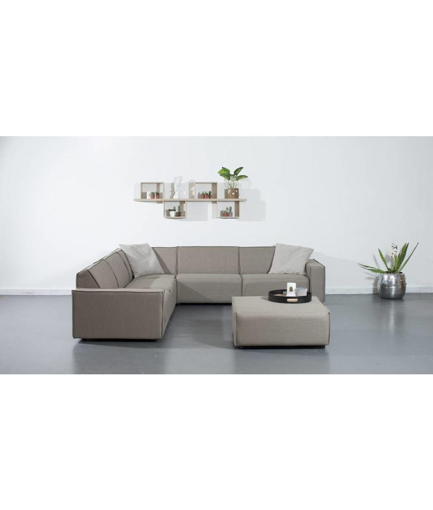 All weather Loungeset + H 291x291 cm - Taupe's Touch