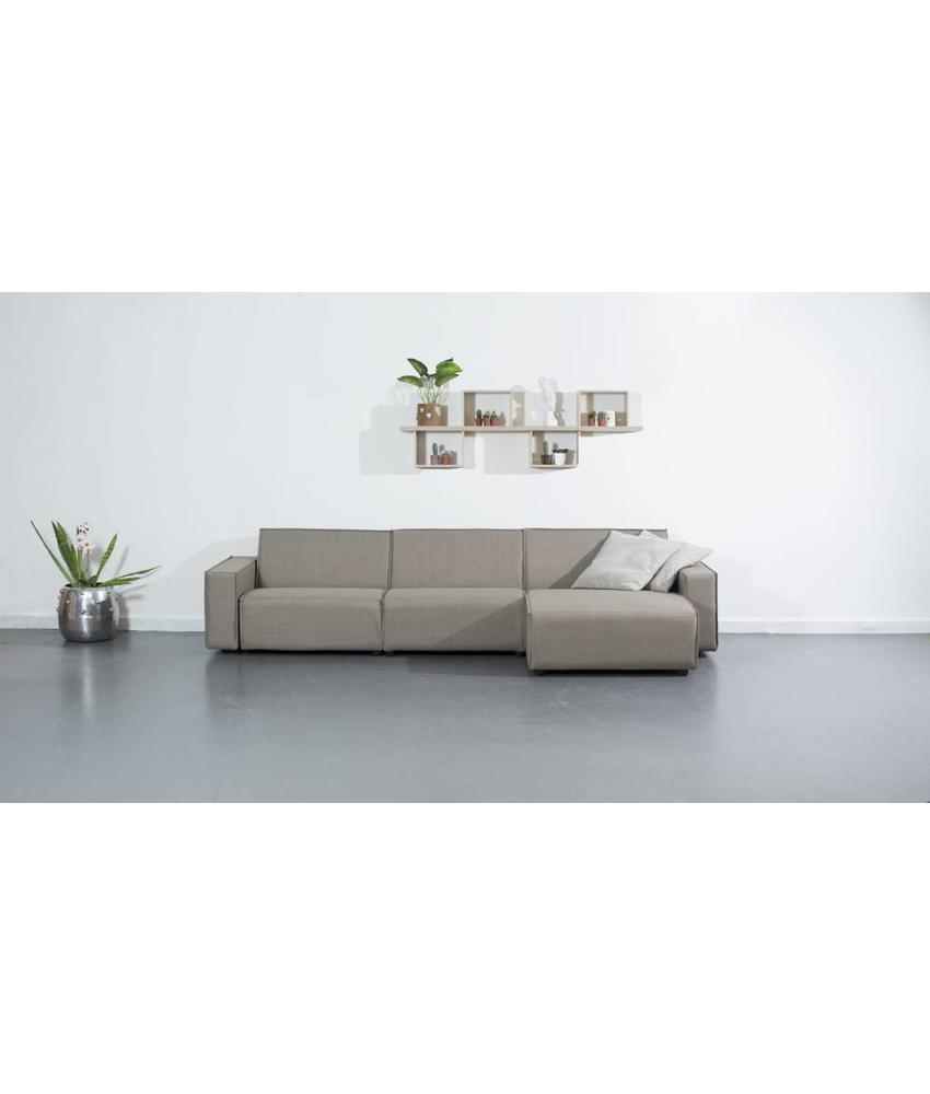 All weather Loungeset R 320x150 cm - Taupe's Touch