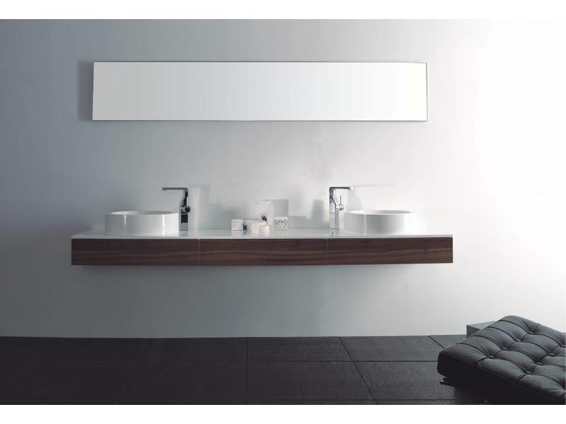 Badkamermeubel voor dubbele wastafel op maat nodig vhcollection