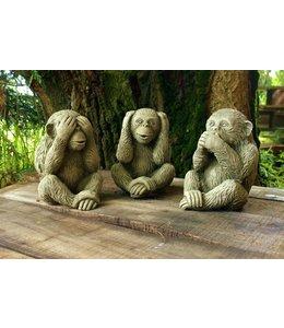 Landhaus Die 3 weisen Affen als Steinfiguren