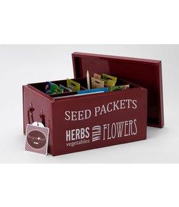 Pflanzensamen-Box, burgundy