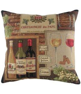 Shabby Chic Kissen Französisches Weingut