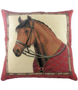 """Landhaus Evans Lichfield, Kissen gefüllt """"Equestrian Red"""" 45x45"""