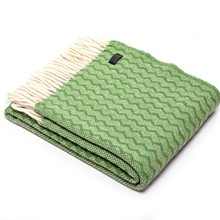 "Tweedmill Wolldecke ""Zigzag Green"""