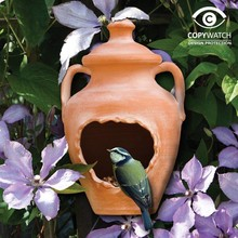Wildlife World Vogelhaus Terracotta-Vase