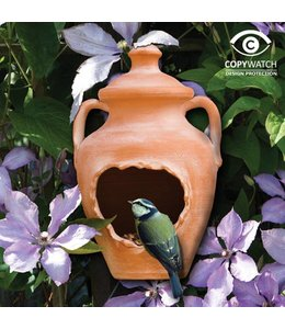 Wildlife World Vogelhaus Terracotta-Vase