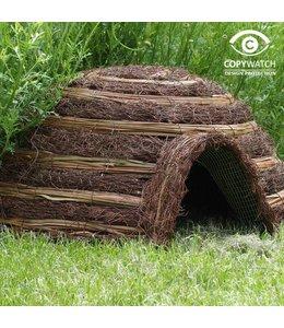 Garten Igelhaus aus natürlichen Materialien