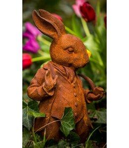 Shabby Chic Mr. Rabbit aus England - Stilvolle Gartenfigur im englischen Landhausstil