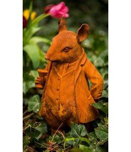 Shabby Chic Mr. Ratty aus England - Stilvolle Gartenfigur im englischen Landhausstil