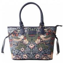 """Signare Britisch-Elegante Handtasche """"Strawberry Thief Blue"""""""