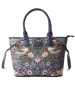 "Britisch-Elegante Handtasche ""Strawberry Thief Blue"""