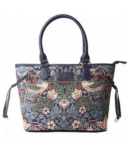 """Garten Britisch-Elegante Handtasche """"Strawberry Thief Blue"""""""