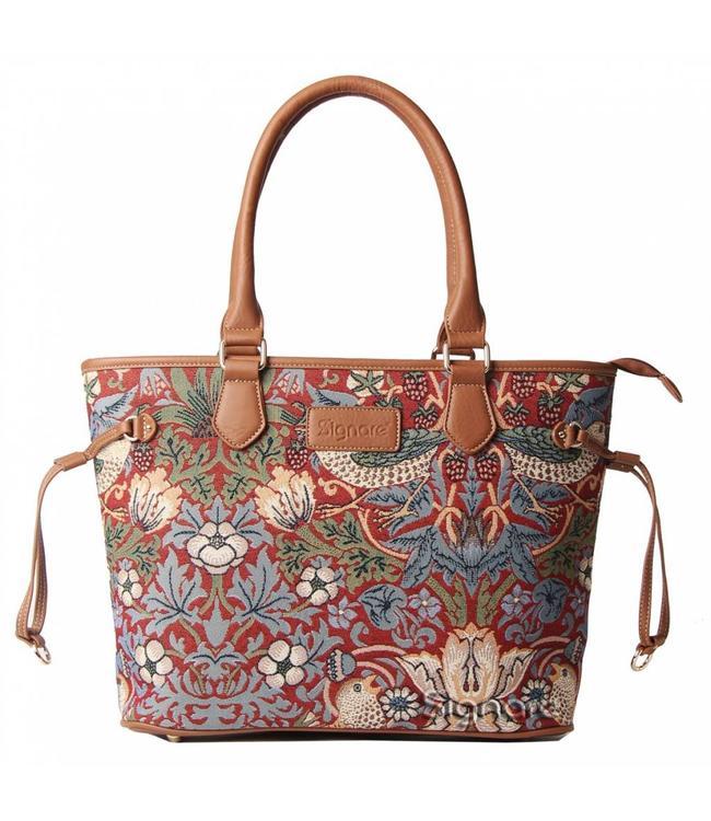 """British-Elegante Handtasche """"Strawberry Thief Red"""""""