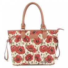 Signare Handtasche mit bezauberndem Mohnblumen-Design