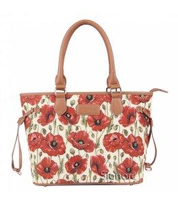Handtasche mit bezauberndem Mohnblumen-Design